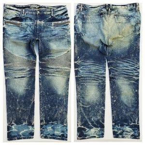 New ROBIN'S JEAN sz 44 Biker Slim Straight Jeans